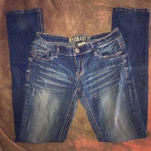 Hydraulic Slim Bootcut Stretch Denim Jeans